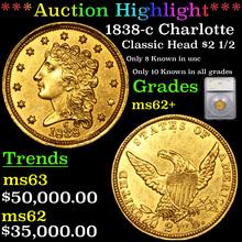 1838-c Charlotte Classic Head Gold $2 1/2 Graded