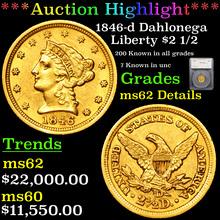 1846-d Dahlonega Gold Liberty Quarter Eagle $2
