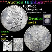 1889-cc Morgan Dollar $1 Graded Select Unc By USCG