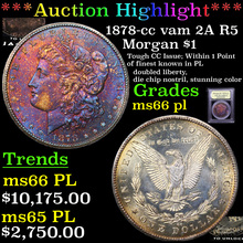 1878-cc vam 2A R5 Morgan Dollar $1 Graded GEM+ UNC