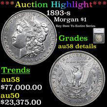 1893-s Morgan Dollar $1 Graded au58 details
