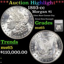 1893-cc Morgan Dollar $1 Graded ms65 By SEGS (fc)