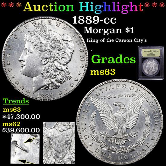 ***Auction Highlight*** 1889-cc Morgan Dollar $1 Graded Select Unc By USCG (fc)