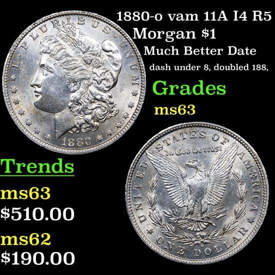 1880-o vam 11A I4 R5 Morgan Dollar $1 Grades Select Unc