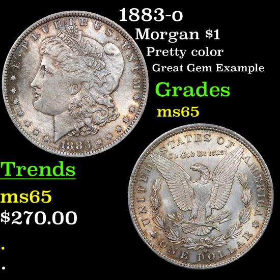 1883-o Morgan Dollar $1 Grades GEM Unc