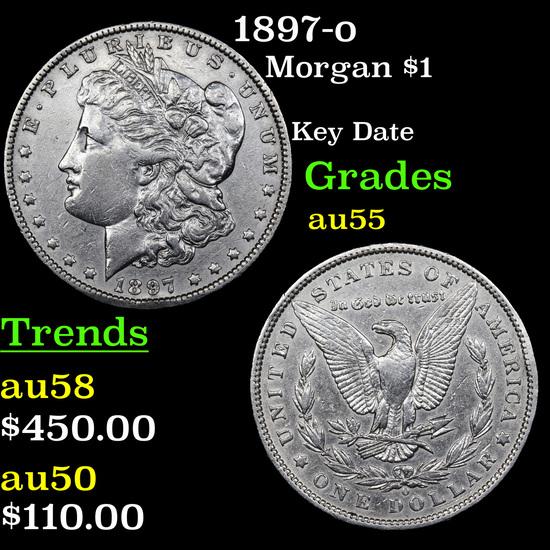 1897-o Morgan Dollar $1 Grades Choice AU