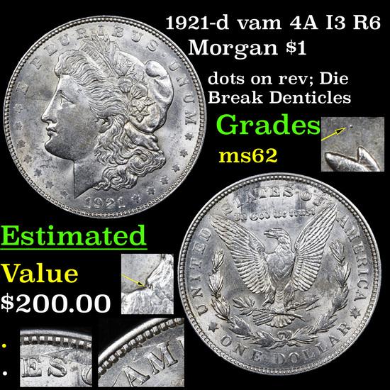 1921-d vam 4A I3 R6 Morgan Dollar $1 Grades Select Unc