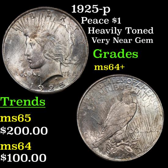 1925-p Peace Dollar $1 Grades Choice+ Unc