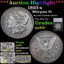1893-s Morgan Dollar $1 Graded au55+ By SEGS (fc)
