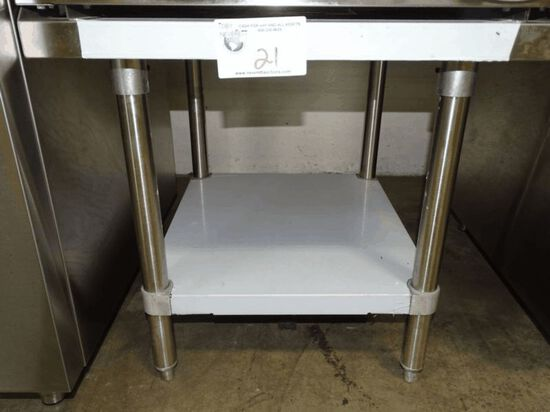 NEW 24x24 S/S Table Equipment Stand