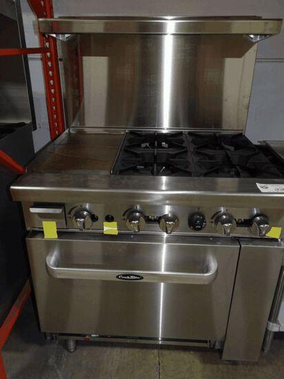 "NEW Cook Rite 4 Burner w/ 12"" Griddle & Oven"