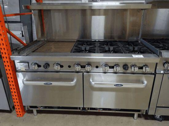 """NEW Cook Rite 6 Burnre w/ 24"""" Griddle & DBL Oven"""