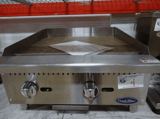 """NEW 24"""" Cook Rite Manual Griddle"""
