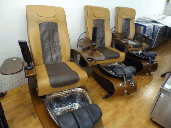3 Gulfstream Lavender Spa Massage Chairs (M# 9622)