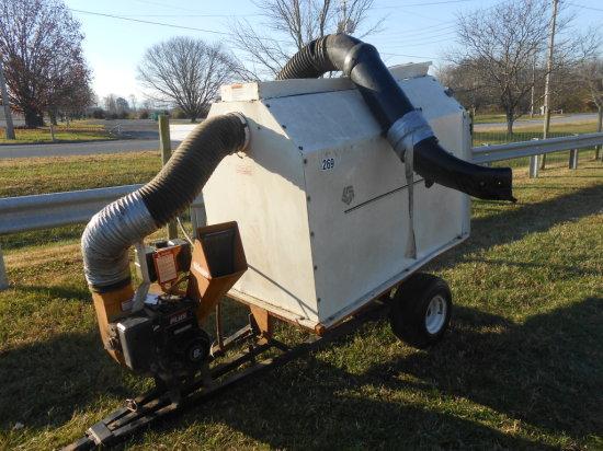 EASY VAC LEAF VAC 8HP,B/S ENGINE,TOWABLE