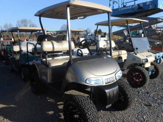 EZ GO GOLF CART LIFTED, BACK SEAT, ELECTRIC W/ CHARGER