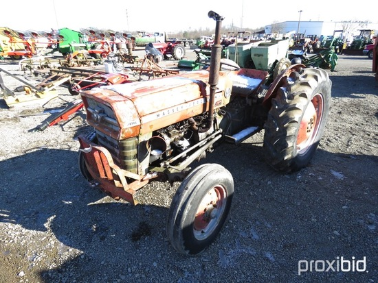 MASSEY FERGUSON 135 TRACTOR DSL, SHOWING 2360 HOURS, TAG
