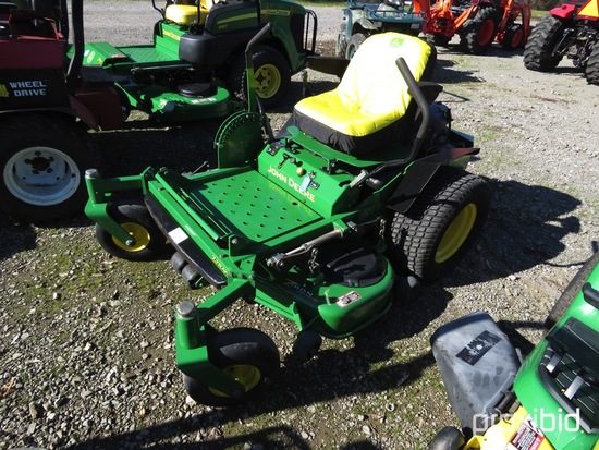 "JOHN DEERE 717 ZERO TURN MOWER KAWASKI GAS ENG, 48"" DECK, 713 HOURS"