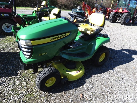 "JOHN DEERE X300 RIDING MOWER 42"" DECK, GAS ENGINE, 388 HOURS"