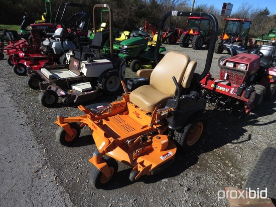 "SCAG TIGER CUB MOWER 23.5HP KAWASAKI ENGINE, 48"" VELOCITY PLUS DECK, ROPS, SHOWING 191HRS, TAG #3160"