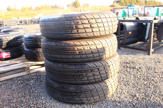QTY 4) UNUSED GLADIATOR TRAILER TIRES 235 / 80 / R16, 10PLY, TAG #3454