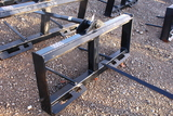 SKID STEER QUICK ATTACH HAY SPEAR TAG #8514