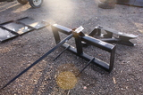 SKID STEER QUICK ATTACH HAY SPEAR TAG #8517