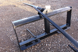 SKID STEER QUICK ATTACH HAY SPEAR TAG #8515