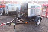 LINCOLN ELECTRIC VANTAGE 500 WELDER GENERATOR ON TRAILER, TAG #3061