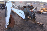 8709 BOBCAT BACKHOE ATTACHMENT FOR 873, SERIAL #880000989, TAG #3100