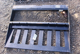 UNUSED SKID STEER QUICK ATTACH FORK FRAME TAG #8538