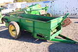 PEQUEA 110G MANURE SPREADER GROUND DRIVEN, TWO RIPPERS, SET OF BEATERS, COMPOSITE FLOOR, TAG #3404