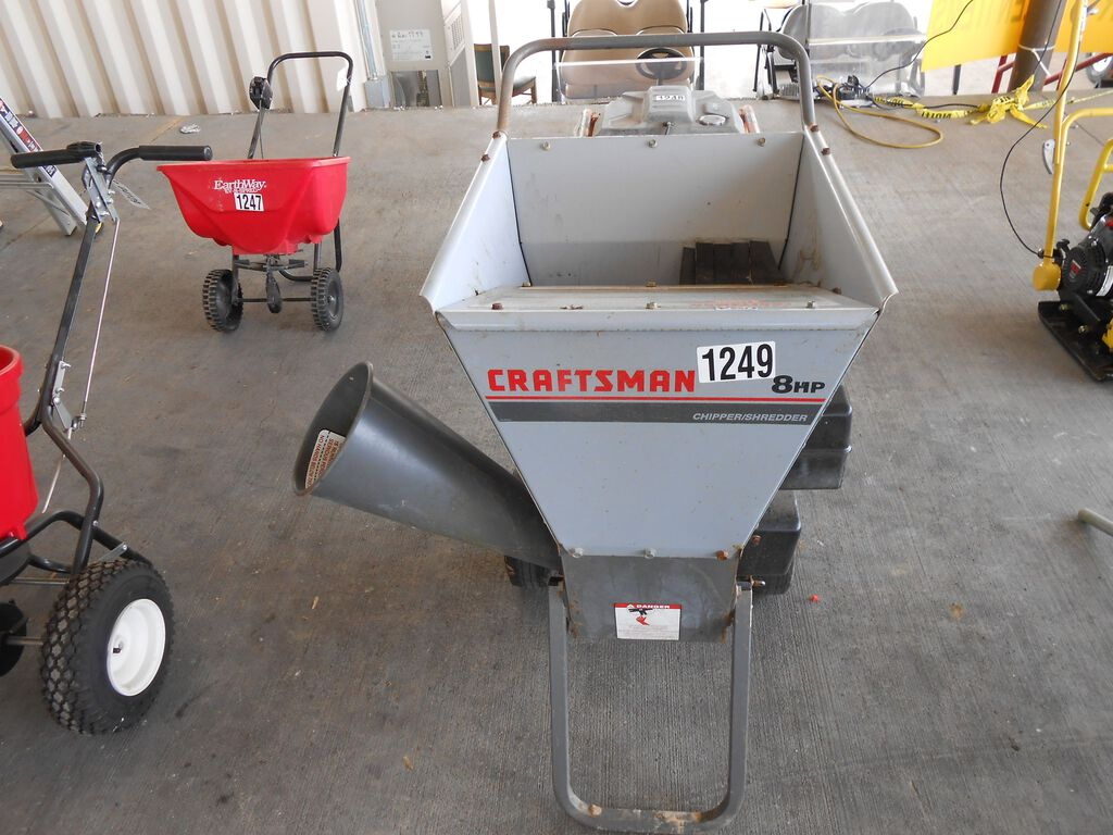 Craftsman 8hp Wood Chipper Tag 4003 Heavy Construction Equipment Light Equipment Support Landscape Commercial Lawncare Lawn Landscape Support Chippers Grinders Online Auctions Proxibid