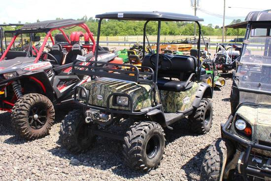 BAD BOY ELECTRIC BUGGY TOP, FRONT RACK, WINCH, NEW BATTERIES, S# 8003958 TAG# 5257