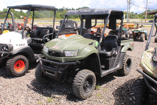 2015 KYMCO UTV 2 SEATER GAS, 4WD, MANUAL DUMP BED, SHOWING 1138 MILES, *30 DAY DELAY TITLE*, VIN# RF
