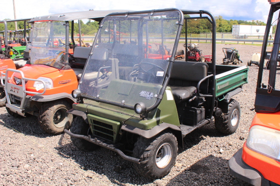 KAWASAKI 2510 DIESEL MULE, 4WD SHOWING 9236 MILES, TAG# 9554