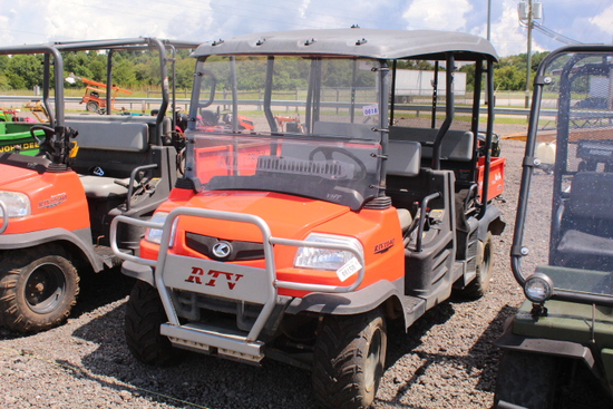 KUBOTA RTV 1140CPX 4 SEATER 4X4, DIESEL ENG, HYDRAULIC DUMP BED, SHOWING 828 HRS, S/N# 34101, TAG# 5