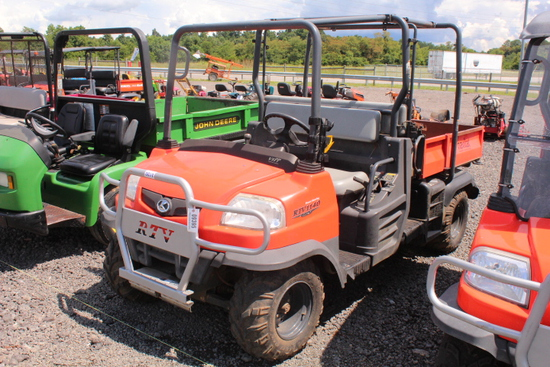 KUBOTA RTV 1140CPX DIESEL, P/S, HYDRAULIC DUMP BED, 4 SEATER, SHOWING 2535 HRS, S/N# 11726, TAG# 939