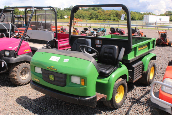 JOHN DEERE 2020A PRO GATOR UTV MANUAL 5 SPD, WITH DUMP BED, SHOWING 5291 HRS, TAG# 10035