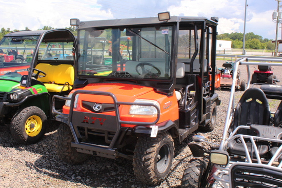 KUBOTA RTV 1140 CPX, 4 SEATER 4X4, HYD DUMP BED, CANOPY, GLASS WINDSHIELD & WIPER, P/S, SHOWING 613