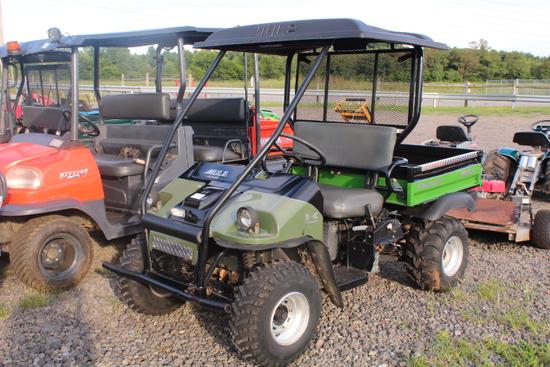 KAWASAKI 550 MULE, 2WD GAS ENG, SHOWING 1363 HRS