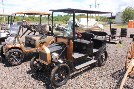 2017 MODEL T FORD, GOPO GOLF CART ELECTRIC & GAS, 4 BATTERIES, TAG# 9214