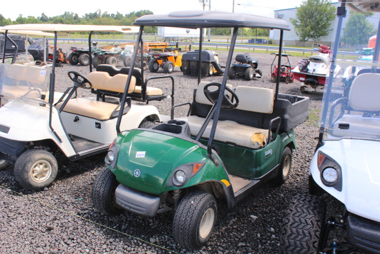 YAMAHA GOLF CART W/ BED NEW BATTERIES (TWO SEASONS AGO) W/ CHARGER, S/N# JC1-101058, TAG# 10045