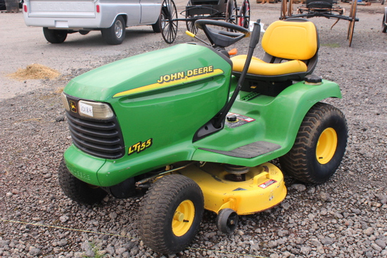"JOHN DEERE LT155 RIDING MOWER 38"" DECK"