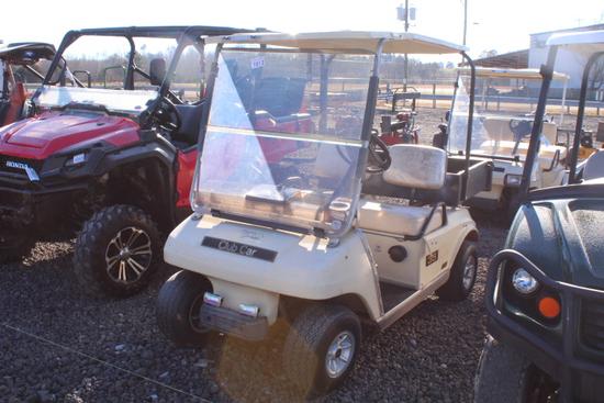 CLUB CAR GAS GOLF CART W/ BED & WINDSHIELD