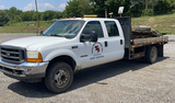 2001 FORD F-550 4 DOOR FLATBED PICKUP TRUCK
