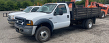 2007 FORD F-450 FLATBED TRUCK 2WD