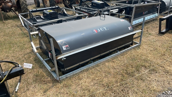 """UNUSED JCT 72"""" SKID STEER SWEEPER WITH CATCH PAN"""