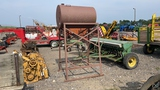 METAL FUEL TANK WITH STAND