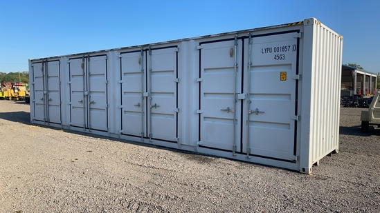 40' SHIPPING CONTAINER WITH SIDE DOORS